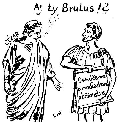 Cézar, Brutus a Osvedčenie o maďarskom občianstve