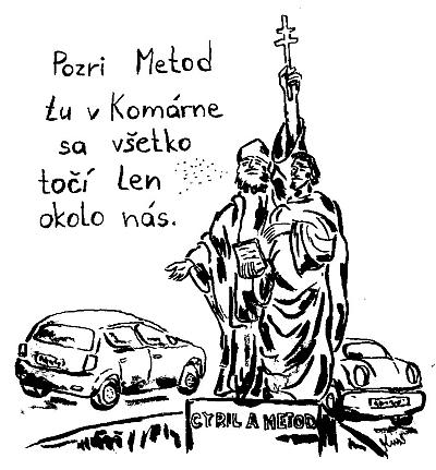 Cyril a Metod v Komárne