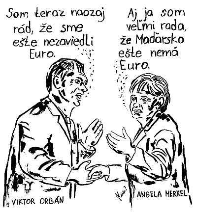 Viktor Orbán, Angela Merkel a Euro